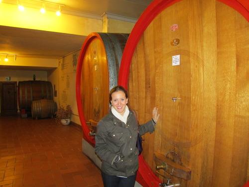 Corianna at Barbi Vineyard in Montalcino, Italy